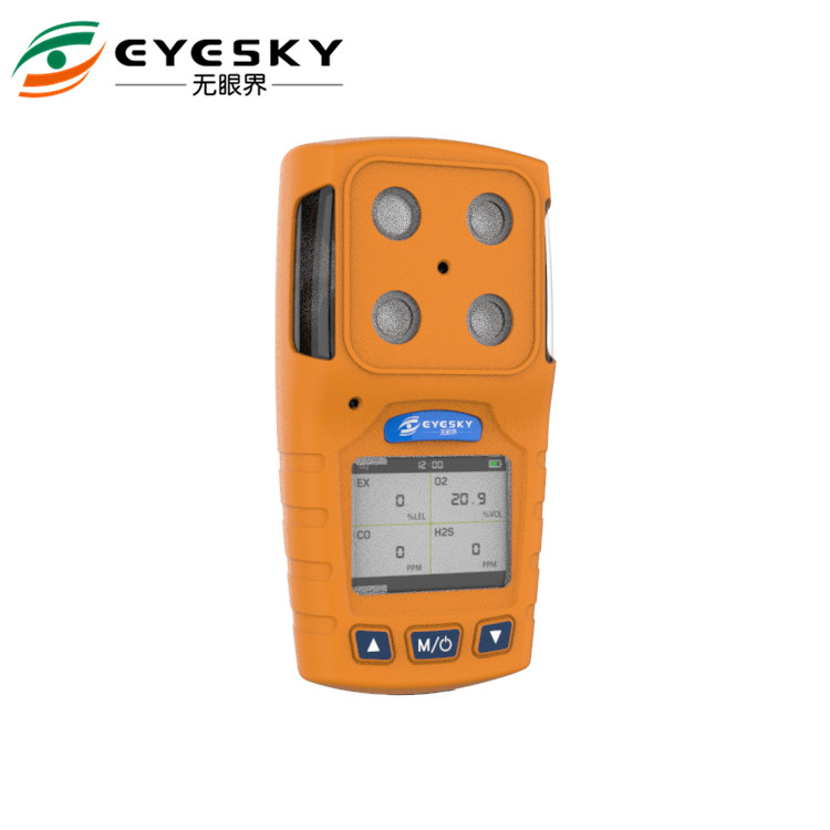 Personal multi gas detector with Audible, Visual, Vibration , industrial gas detector